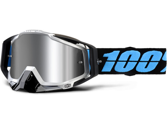 100% Racecraft Plus Injected Mirror Goggles blå (2019) | Briller